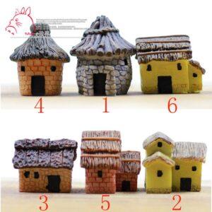 Decor ngôi nhà trang trí, đồ trang trí mini, nhà mini, nhà làm tiểu cảnh