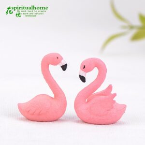 Decor chim hồng hạc, decor cây xanh, đồ trang trí cây xanh, đồ trang trí tiểu cảnh, mua đồ trang trí tiểu cảnh, decor tặng tân gia, decor tặng khai trương